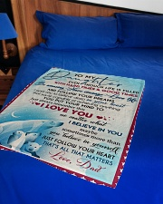 """I LOVE YOU - AMAZING GIFT FOR DAUGHTER Small Fleece Blanket - 30"""" x 40"""" aos-coral-fleece-blanket-30x40-lifestyle-front-02"""