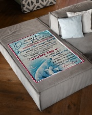 """I LOVE YOU - AMAZING GIFT FOR DAUGHTER Small Fleece Blanket - 30"""" x 40"""" aos-coral-fleece-blanket-30x40-lifestyle-front-03"""