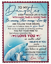 """I LOVE YOU - AMAZING GIFT FOR DAUGHTER Small Fleece Blanket - 30"""" x 40"""" front"""