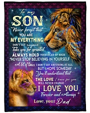 """MY EVERYTHING - TO SON FROM DAD Large Fleece Blanket - 60"""" x 80"""" front"""
