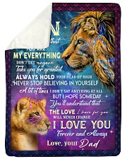 MY EVERYTHING - TO SON FROM DAD Sherpa Fleece Blanket tile