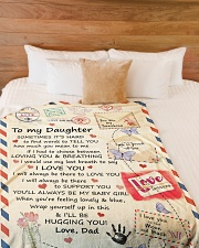 """YOU ARE MY SUNSHINE - LOVELY GIFT FOR DAUGHTER Large Fleece Blanket - 60"""" x 80"""" aos-coral-fleece-blanket-60x80-lifestyle-front-02"""