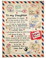 """YOU ARE MY SUNSHINE - LOVELY GIFT FOR DAUGHTER Large Fleece Blanket - 60"""" x 80"""" front"""