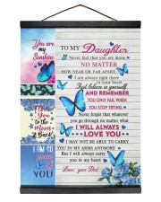 NEVER FEEL THAT YOU ARE ALONE Hanging Canvas tile