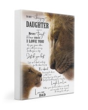 I LOVE YOU - BEST GIFT FOR DAUGHTER 11x14 Gallery Wrapped Canvas Prints front
