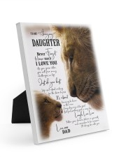 I LOVE YOU - BEST GIFT FOR DAUGHTER 8x10 Easel-Back Gallery Wrapped Canvas thumbnail