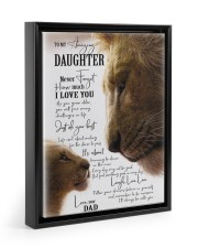 I LOVE YOU - BEST GIFT FOR DAUGHTER 11x14 Black Floating Framed Canvas Prints thumbnail