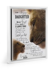 I LOVE YOU - BEST GIFT FOR DAUGHTER 11x14 White Floating Framed Canvas Prints thumbnail