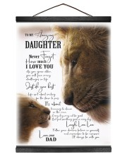 I LOVE YOU - BEST GIFT FOR DAUGHTER 12x16 Black Hanging Canvas thumbnail