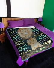 """YOU MEAN TO ME - GREAT GIFT FOR DAUGHTER Large Fleece Blanket - 60"""" x 80"""" aos-coral-fleece-blanket-60x80-lifestyle-front-01"""