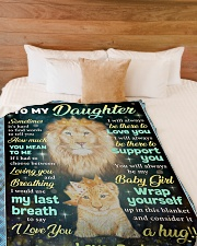 """YOU MEAN TO ME - GREAT GIFT FOR DAUGHTER Large Fleece Blanket - 60"""" x 80"""" aos-coral-fleece-blanket-60x80-lifestyle-front-02"""