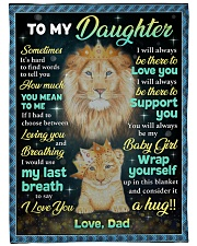 """YOU MEAN TO ME - GREAT GIFT FOR DAUGHTER Large Fleece Blanket - 60"""" x 80"""" front"""