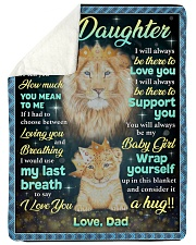 """YOU MEAN TO ME - GREAT GIFT FOR DAUGHTER Large Sherpa Fleece Blanket - 60"""" x 80"""" thumbnail"""
