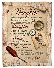 STRAIGHTEN YOUR CROWN - SPECIAL GIFT FOR DAUGHTER Fleece Blanket tile