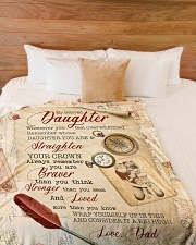 """STRAIGHTEN YOUR CROWN - SPECIAL GIFT FOR DAUGHTER Large Fleece Blanket - 60"""" x 80"""" aos-coral-fleece-blanket-60x80-lifestyle-front-02"""