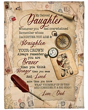 """STRAIGHTEN YOUR CROWN - SPECIAL GIFT FOR DAUGHTER Large Fleece Blanket - 60"""" x 80"""" front"""