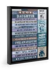 I WILL ALWAYS CARRY YOU IN MY HEART 11x14 Black Floating Framed Canvas Prints thumbnail