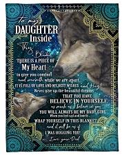 BELIEVE IN YOURSELF - DAUGHTER GIFT WITH WOLF Fleece Blanket tile