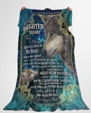 """BELIEVE IN YOURSELF - DAUGHTER GIFT WITH WOLF Large Fleece Blanket - 60"""" x 80"""" aos-coral-fleece-blanket-60x80-lifestyle-front-10"""