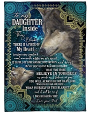 """BELIEVE IN YOURSELF - DAUGHTER GIFT WITH WOLF Large Fleece Blanket - 60"""" x 80"""" front"""