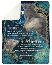 """BELIEVE IN YOURSELF - DAUGHTER GIFT WITH WOLF Large Sherpa Fleece Blanket - 60"""" x 80"""" thumbnail"""