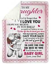 """I LOVE YOU - AMAZING GIFT FOR DAUGHTER Large Sherpa Fleece Blanket - 60"""" x 80"""" thumbnail"""