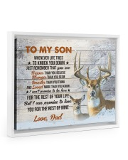 THE REST OF YOUR LIFE - BEST GIFT FOR SON 14x11 White Floating Framed Canvas Prints thumbnail