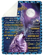 "BELIEVE IN YOURSELF - GREAT GIFT FOR DAUGHTER Large Sherpa Fleece Blanket - 60"" x 80"" thumbnail"