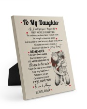 I WILL LOVE YOU FOREVER - GREAT GIFT FOR DAUGHTER Easel-Back Gallery Wrapped Canvas tile