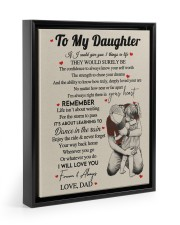 I WILL LOVE YOU FOREVER - GREAT GIFT FOR DAUGHTER Floating Framed Canvas Prints Black tile