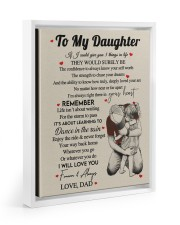 I WILL LOVE YOU FOREVER - GREAT GIFT FOR DAUGHTER Floating Framed Canvas Prints White tile