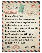A BIG HUG - TO DAUGHTER FROM DAD Fleece Blanket tile