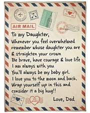 "A BIG HUG - TO DAUGHTER FROM DAD Large Fleece Blanket - 60"" x 80"" front"