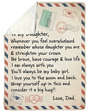 A BIG HUG - TO DAUGHTER FROM DAD Sherpa Fleece Blanket tile