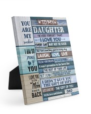 YOU ARE MY SUNSHINE - TO DAUGHTER FROM DAD 8x10 Easel-Back Gallery Wrapped Canvas thumbnail