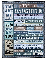 "YOU ARE MY SUNSHINE - TO DAUGHTER FROM DAD Small Fleece Blanket - 30"" x 40"" thumbnail"