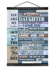 YOU ARE MY SUNSHINE - TO DAUGHTER FROM DAD 12x16 Black Hanging Canvas thumbnail