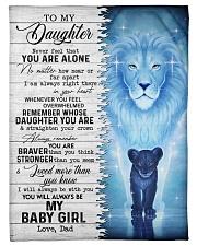 MY BABY GIRL - TO DAUGHTER FROM DAD Fleece Blanket tile