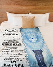 """MY BABY GIRL - TO DAUGHTER FROM DAD Large Fleece Blanket - 60"""" x 80"""" aos-coral-fleece-blanket-60x80-lifestyle-front-02"""