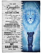 """MY BABY GIRL - TO DAUGHTER FROM DAD Large Fleece Blanket - 60"""" x 80"""" front"""