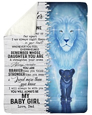 """MY BABY GIRL - TO DAUGHTER FROM DAD Large Sherpa Fleece Blanket - 60"""" x 80"""" thumbnail"""