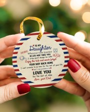 THE REST OF YOUR LIFE - BEST GIFT FOR DAUGHTER Circle ornament - single (porcelain) aos-circle-ornament-single-porcelain-lifestyles-08
