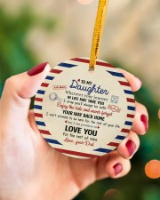 THE REST OF YOUR LIFE - BEST GIFT FOR DAUGHTER Circle ornament - single (porcelain) aos-circle-ornament-single-porcelain-lifestyles-09