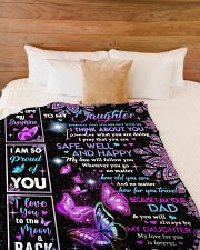 """YOU ARE MY SUNSHINE - DAD TO DAUGHTER Large Fleece Blanket - 60"""" x 80"""" aos-coral-fleece-blanket-60x80-lifestyle-front-02"""