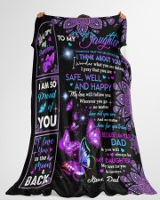 """YOU ARE MY SUNSHINE - DAD TO DAUGHTER Large Fleece Blanket - 60"""" x 80"""" aos-coral-fleece-blanket-60x80-lifestyle-front-10"""