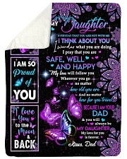 YOU ARE MY SUNSHINE - DAD TO DAUGHTER Sherpa Fleece Blanket tile