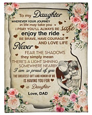 I AM SO PROUD OF YOU - GREAT GIFT FOR DAUGHTER Fleece Blanket tile