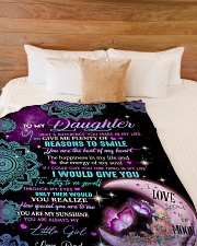 "I COULD GIVE YOU ONE THING IN MY LIFE Large Fleece Blanket - 60"" x 80"" aos-coral-fleece-blanket-60x80-lifestyle-front-02"