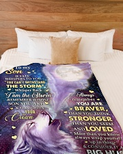 """CONSIDER IT A BIG HUG - GREAT GIFT FOR SON Large Fleece Blanket - 60"""" x 80"""" aos-coral-fleece-blanket-60x80-lifestyle-front-02"""