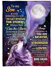 """CONSIDER IT A BIG HUG - GREAT GIFT FOR SON Large Fleece Blanket - 60"""" x 80"""" front"""